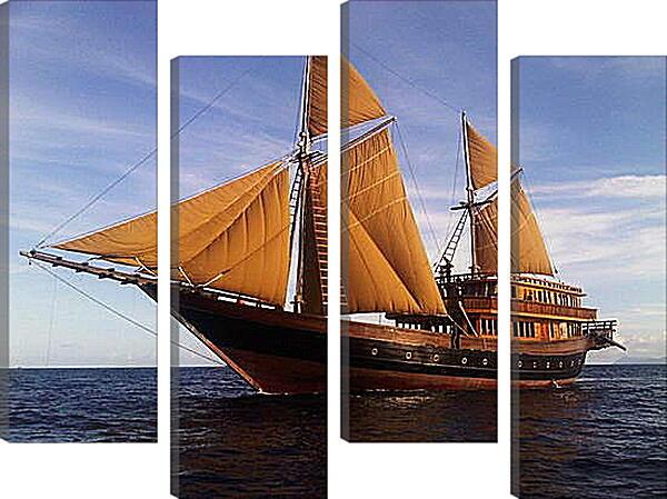 Модульная картина - Корабль
