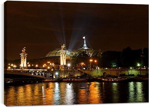 Постер на подрамнике - Ночной Париж