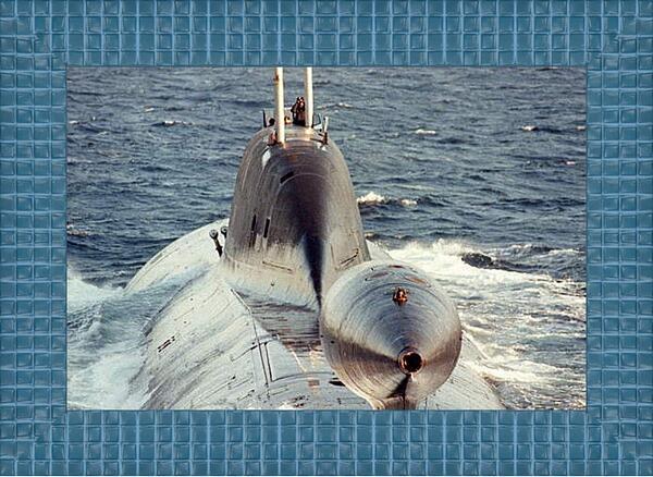 Картина в раме - Подводная лодка