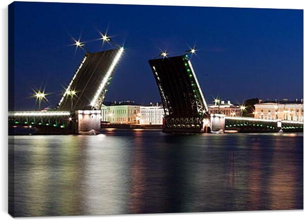 Постер на подрамнике - Разводные мосты Санкт-Петербурга