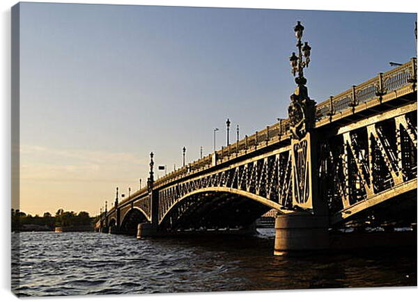 Постер на подрамнике - Мост в Санкт-Петербурге