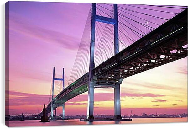 Постер на подрамнике - Городской пейзаж. Мост