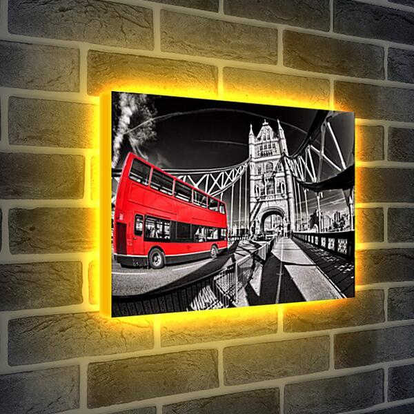 Лайтбокс световая панель - Красный автобус, Лондон.