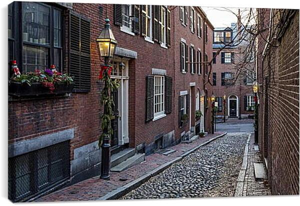 Постер на подрамнике - Улица в Бостоне