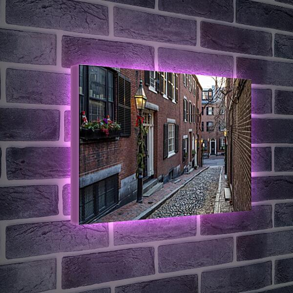 Лайтбокс световая панель - Улица в Бостоне
