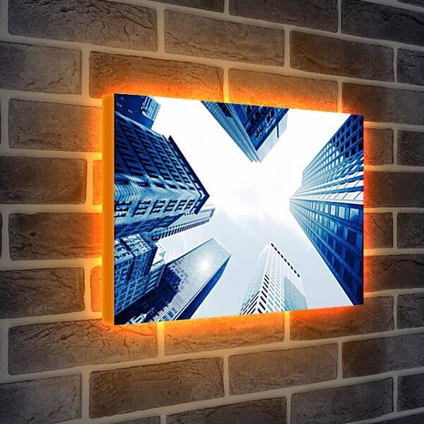 Лайтбокс световая панель - Небоскребы