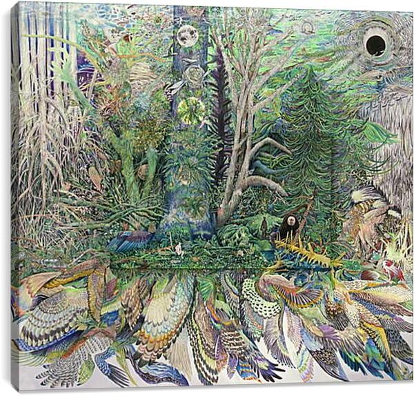 Постер на подрамнике - Абстракция. Животные и птицы