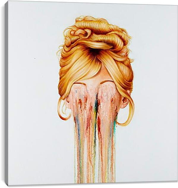 Постер на подрамнике - Абстракция. Исчезающее лицо