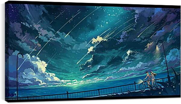 Постер на подрамнике - Прогулка под звездным небом