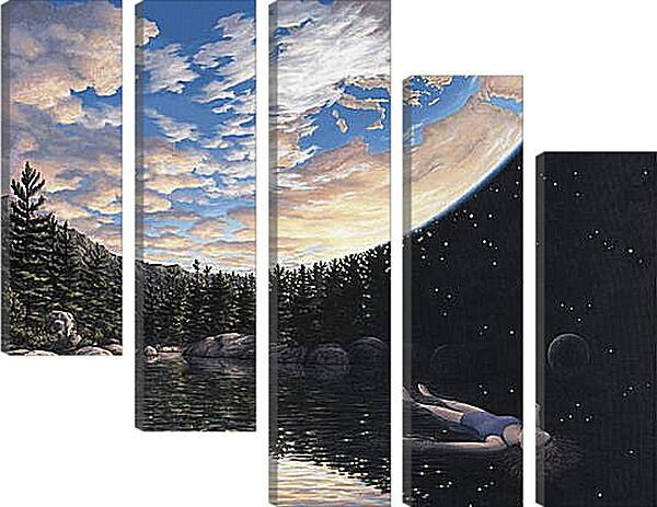 Модульная картина - Иллюзия. Небо - Земля