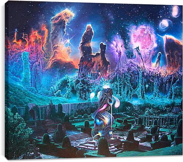 Постер на подрамнике - Бесконечная галактика