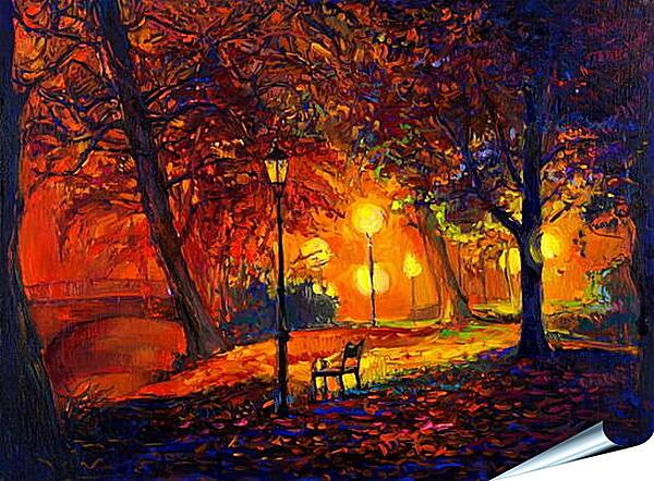 Плакат на стену - Одинокая осень