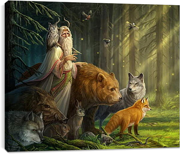 Постер на подрамнике - Хозяин леса