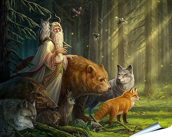 Плакат на стену - Хозяин леса