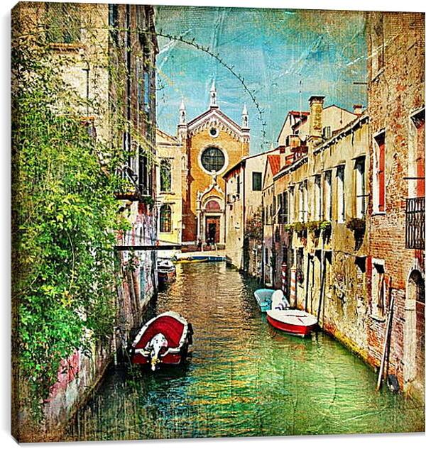 Постер на подрамнике - Венецианская улочка