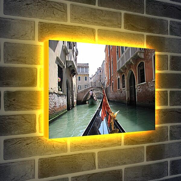 Лайтбокс световая панель - Прогулка на гондоле