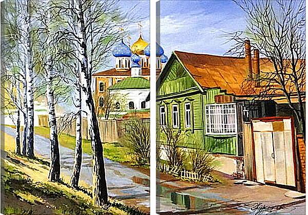 Модульная картина - Деревня