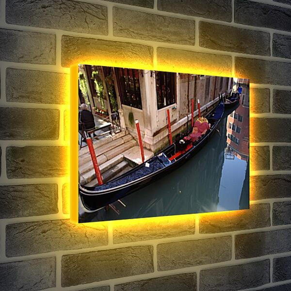 Лайтбокс световая панель - Венецианская гондола