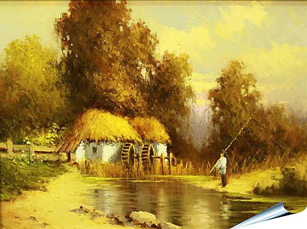 Плакат на стену - В деревне