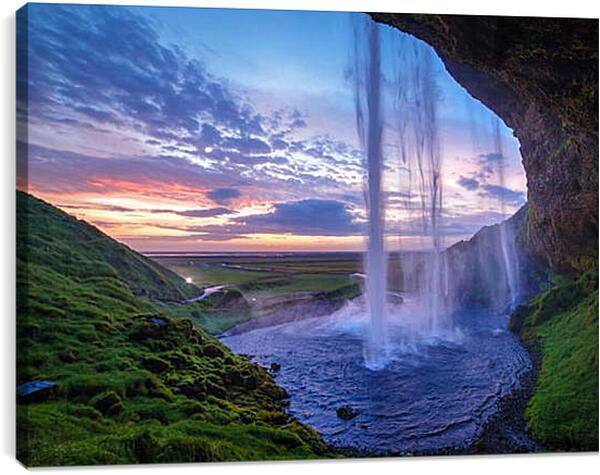 Постер на подрамнике - Водопад