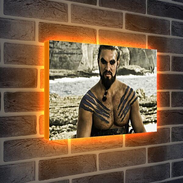 Лайтбокс световая панель - Игра престолов. Кхал Дрого