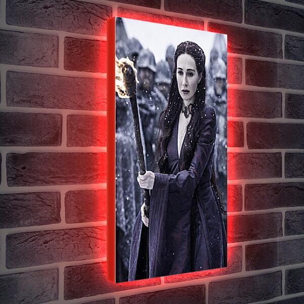 Лайтбокс световая панель - Игра престолов. Мелиссандра