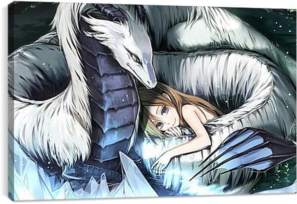 Постер на подрамнике - Драконья забота