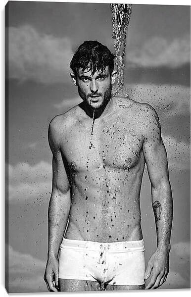 Постер на подрамнике - Красивый мужчина