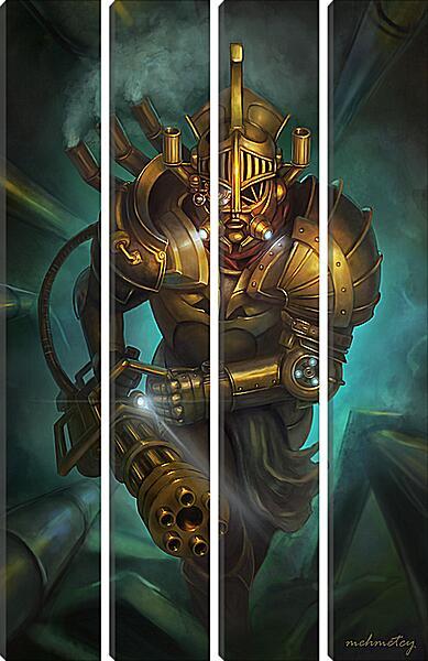 Модульная картина - Золотой воин