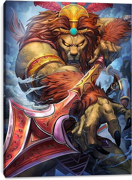 Постер на подрамнике - Яростный лев