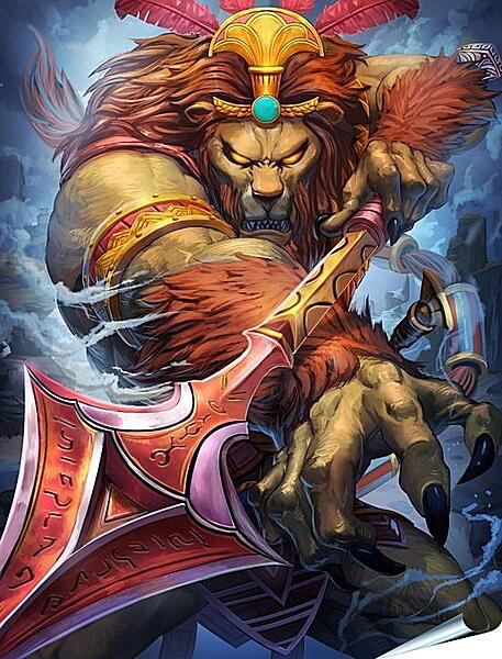 Плакат на стену - Яростный лев