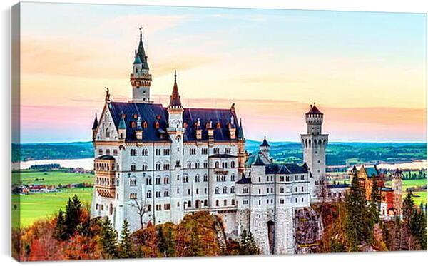 Постер на подрамнике - Замок Нойшванштайн