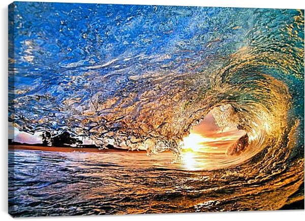 Постер на подрамнике - Солнечная волна