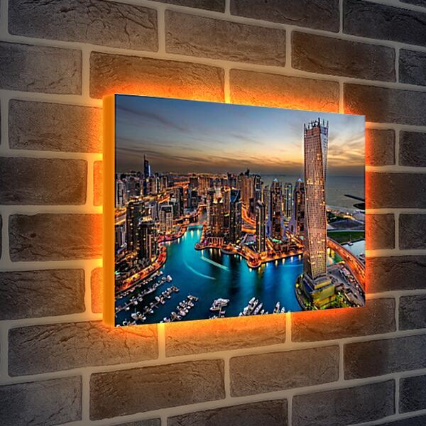 Лайтбокс световая панель - Ночной город