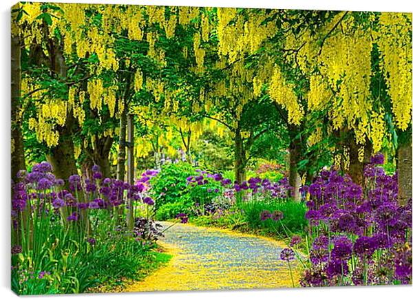 Постер на подрамнике - Цветочная тропинка