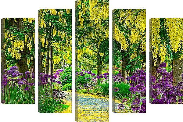 Модульная картина - Цветочная тропинка