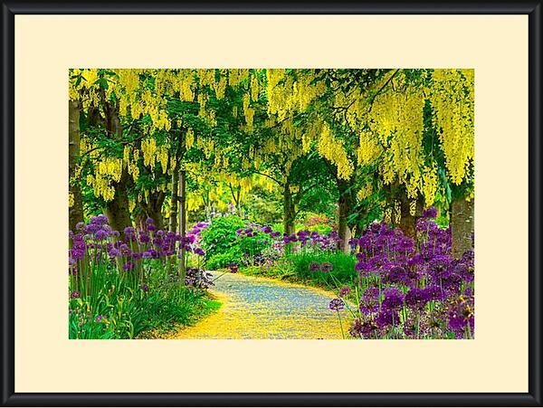 Картина в раме - Цветочная тропинка