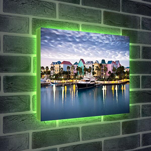 Лайтбокс световая панель - Яркий курортный городок