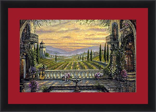 Картина в раме - Вид с террасы