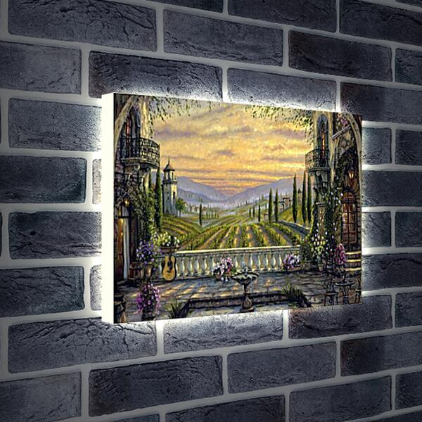 Лайтбокс световая панель - Вид с террасы