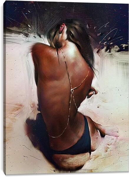 Постер на подрамнике - Загорелая девушка