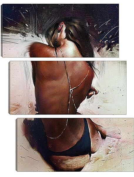 Модульная картина - Загорелая девушка