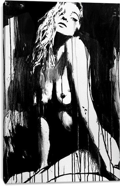 Постер на подрамнике - Силуэт девушки