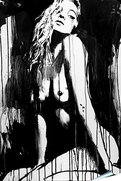 Плакат на стену - Силуэт девушки