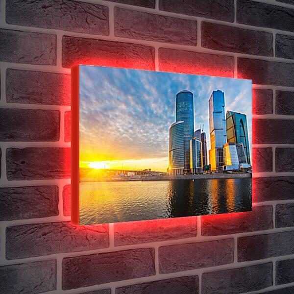 Лайтбокс световая панель - Москва-сити
