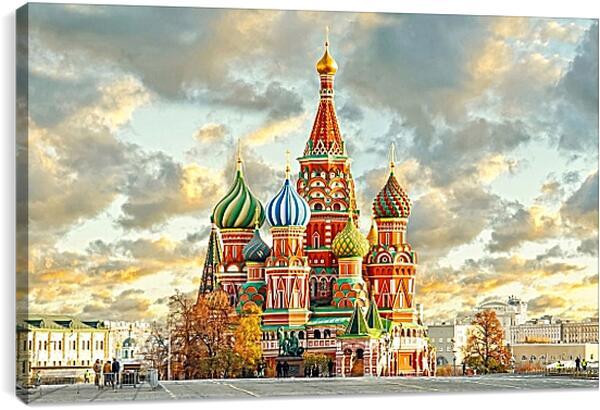 Постер на подрамнике - Красочная Москва