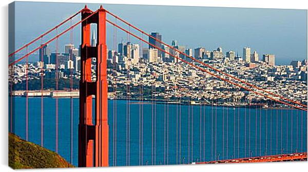 Постер на подрамнике - Мост Сан Франциско