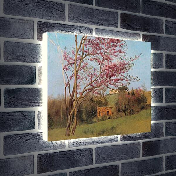 Лайтбокс световая панель - Blossoming Red Almond, study. Джон Уильям Годвард