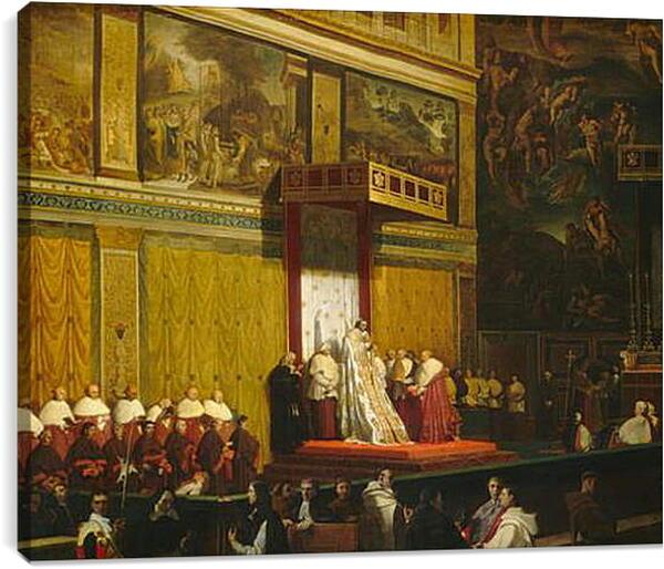 Постер на подрамнике - Папа Пий VII В Сикстинской Капелле. Жан Огюст Доминик Энгр