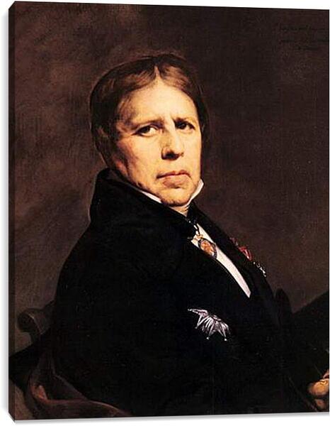 Постер на подрамнике - Self-Portrait. Жан Огюст Доминик Энгр